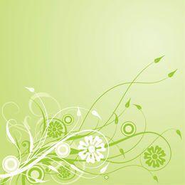 Green Swirling Creeper Leafy Background
