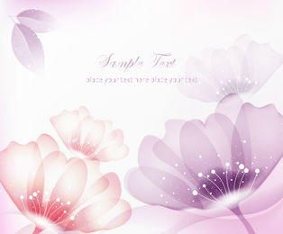 Abstract Red & Purple Flowers Background