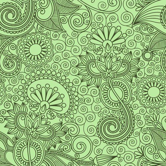 Floristic Seamless Ornament Pattern