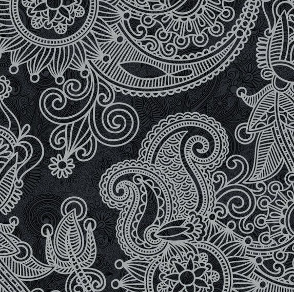 Clipart Seamless Black And White Vintage Floral Pattern 3 ...   Black Floral Vintage Pattern