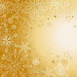 Snowflakes & Stars Linen Christmas Background