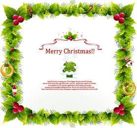 Floral Frame Christmas Card Template
