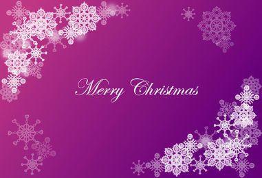 Christmas Background with Snowflake Corner
