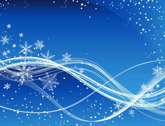 Swirling Blue Christmas Background with Snowflakes
