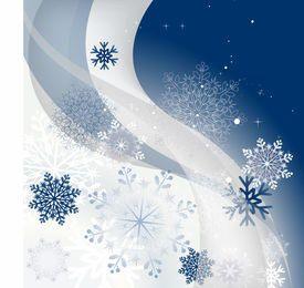 Copos de nieve y olas de fondo de Navidad