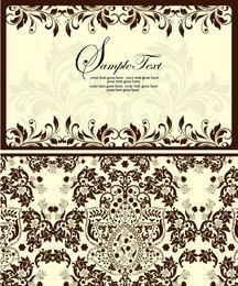 Invitación floral del frente y detrás del estilo simplista