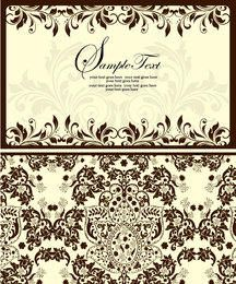 Simplistic Style Front & Back Floral Invitation
