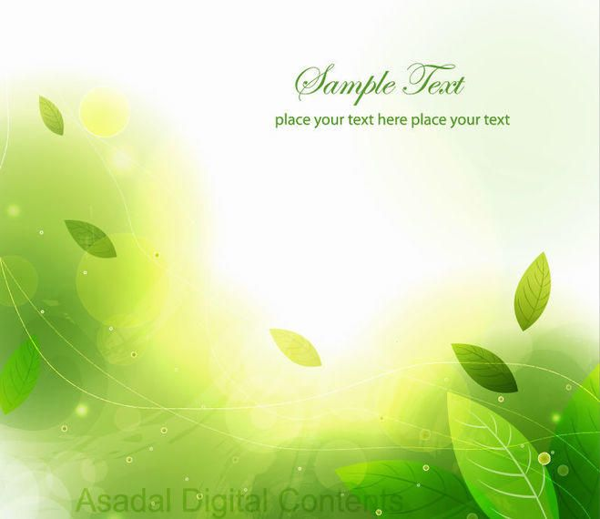Download Vector Abstract Green Leaves And Waves Background