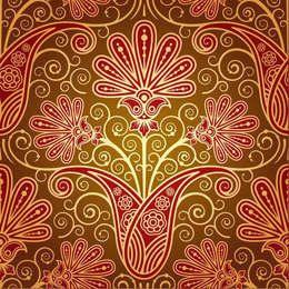 Vintage Seamless Religious Floral Pattern