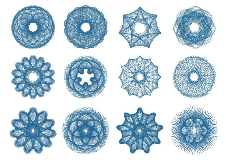 Creative Spiral Currency or Certificate Decoration Pack