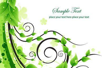 Green Flouring Swirls Background