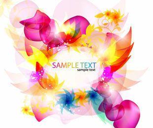 Fondo floral abstracto fluorescente colorido