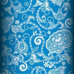 Patrón sin costuras floral decorativo vintage