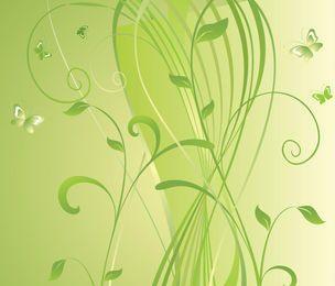 Swirly grüner Blumenhintergrund