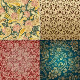 Seamless Vintage Floral Pattern Set