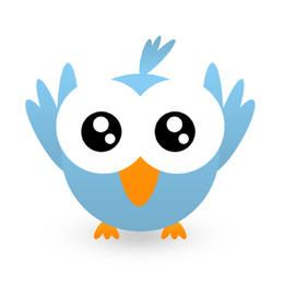 Icono azul claro de Twitt