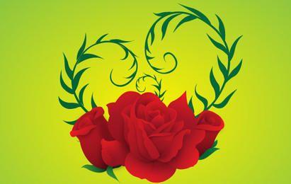 Free Vector Rose grünen Hintergrund