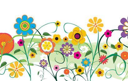 Flores e flores de vetor