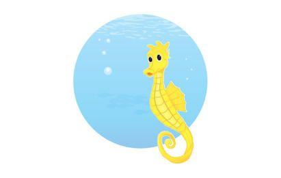 Free Vector Seahorse