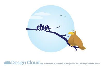 Free Vector Bird Branches
