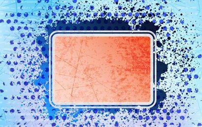 Banner retangular com pontos