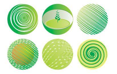 Conjunto de globo verde
