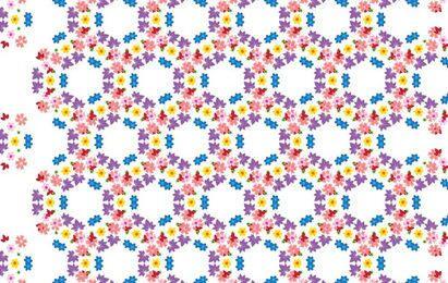 Flores de padrão de vetor