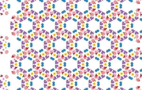 Vector patrón de flores