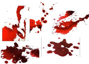 Realistische Blutspritzerpackung