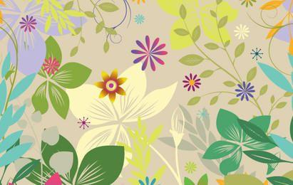 Blumenfarbe Vektor Hintergrund