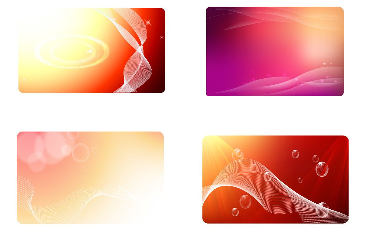Glowing Red Business Card Background Set - Vector download