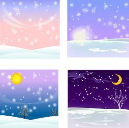 4 Fondos de invierno nevados