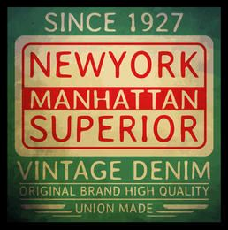 New york vintage typography T shirt graphic