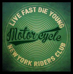 vintage style tee print design motorcycle club