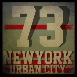 Nueva York tipografía camiseta gráfica. vectores