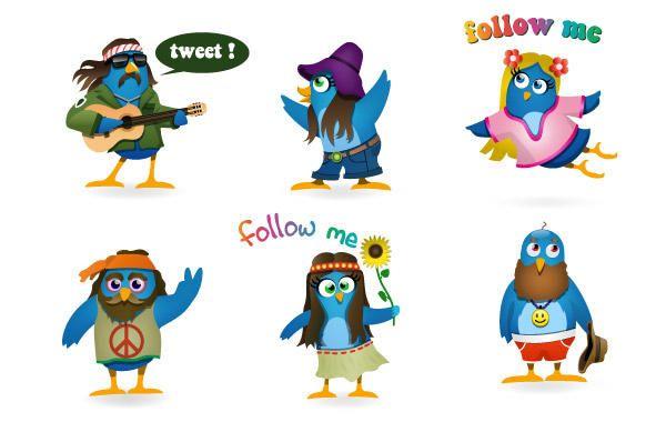 Woodstock Twitter Icons set