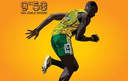 Usain Bolt New World Record 9.58