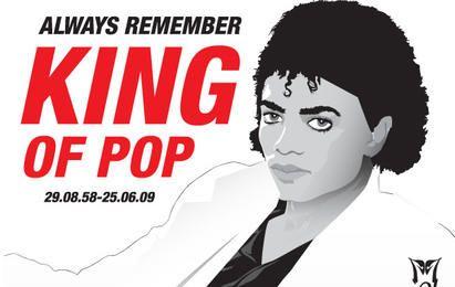 Michael Jackson vector ilustración rip