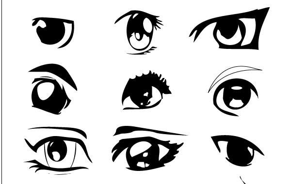 anime eyes - vector download