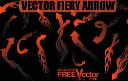 Flecha ardiente de vector libre