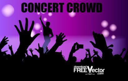 Multidão de concerto de vetor livre