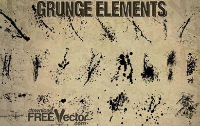 Elementos do grunge do vetor