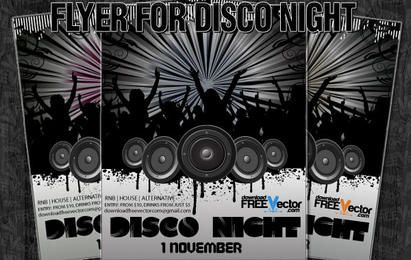 Vector Flyer For Disco Night