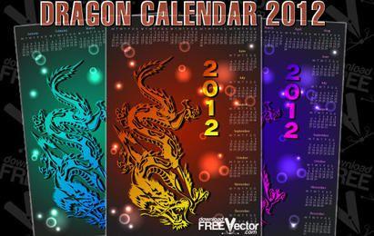 Calendário Dragão Para 2012