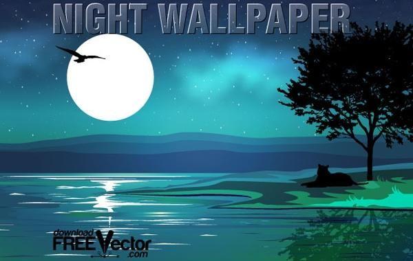 Vector Night Wallpaper