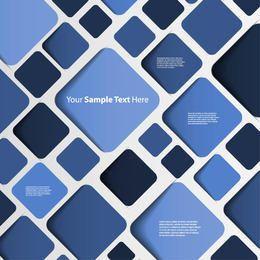 Fondo abstracto azul con cuadrados redondeados