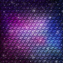Resumo em relevo padrão cúbico fundo violeta