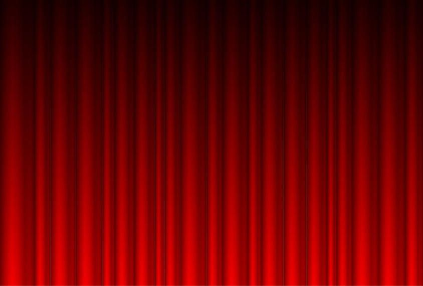 Realistic Red Curtain Background