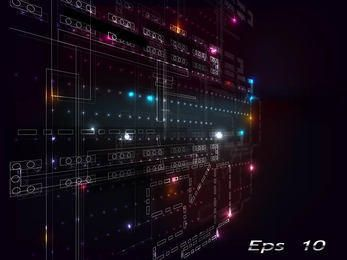 Futuristic Abstract Digital Background