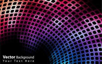 Fundo abstrato colorido Curvy Disco